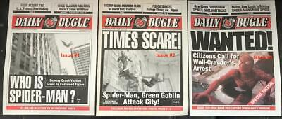 Marvel Spider-Man Movie Licensed Exact Prop Replica DAILY BUGLES select issue #s