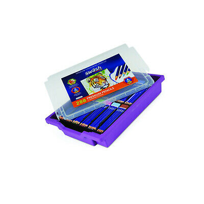 Swash PCP288G Premium Colouring Pencils in Gratnell's Tray (Pack of 288)