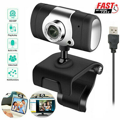 Webcam For PC Laptop Desktop US Auto Focusing Web Camera HD Cam with Microphone