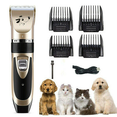 USB Pet Cat Dog Grooming Clipper Electric Hair Trimmer Shaver Kit Cordless Quiet