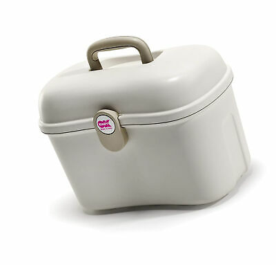 OKBaby Beauty Care Carrying Case Baby Changing and Bath Box, Ivory