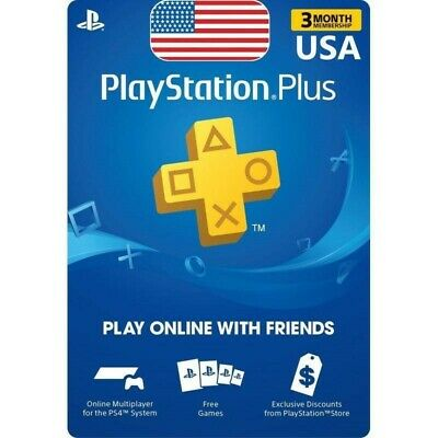 Playstation Plus 3 Month Membership Digital Code email fast delivery us psn