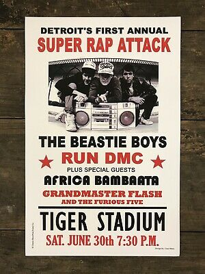 "BEASTIE BOYS / Run DMC 1987 Tiger Stadium, Detroit 11""x17"" Concert Poster"