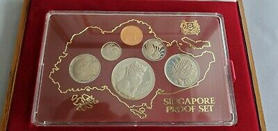1982 Singapore 6 Coin Silver Proof Set with Original Box Lot#18701