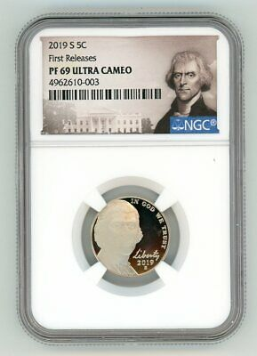 2019 S Jefferson Nickel 5C Ngc Pf69 Ultra Cameo First Releases 4962610-003