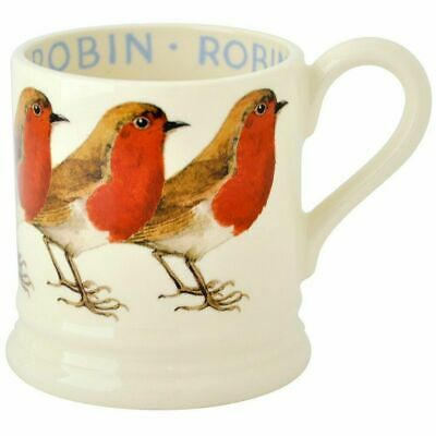 New Emma Bridgewater Robin 1/2 Pint Mug ~ 1st Quality ~ USA Shipping