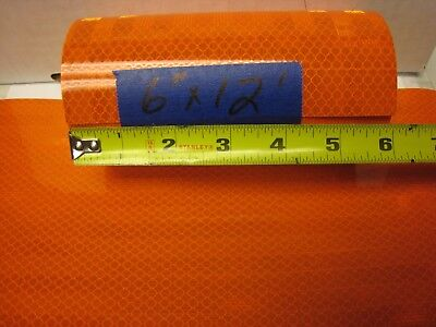 "6"" x 12'  Roll  All ORANGE   REFLECTIVE CONSPICUITY TAPE"