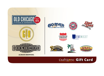 $25 Old Chicago Gift Card - Email Delivery - Valid at Craftworks Locations