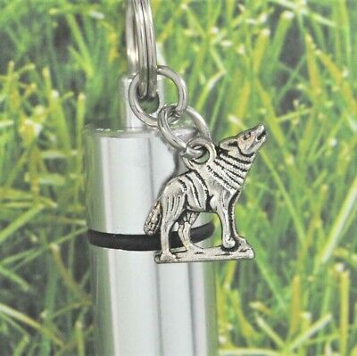 Wolf Cremation Jewelry || Wolf Lover Ashes Holder Jewelry || Engraveable Urns