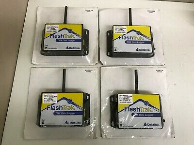 LOT of 4 DeltaTrak FlashTrak TMX Data Logger 22080