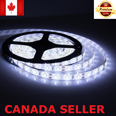 New Bright  5050 Waterproof LED Strip Lights DIY Cool White DC 12 V Tape CA