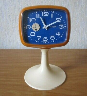 VINTAGE KAISER REVEIL ORANGE PIED TULIPE POP SPACE AGE 70's