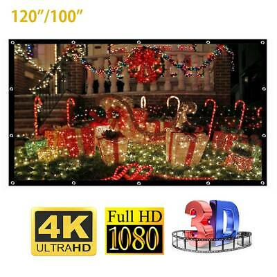 100 inch Projection Projector Screen Home Cinema  16:9 Film Cloth Polyester