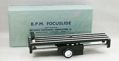 Genuine B. P. M. Focuslide With Box, For MACRO Photography