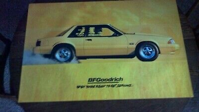 Original Bf Goodrich Sign Yellow Ford Mustang Lx Fox Body Poster