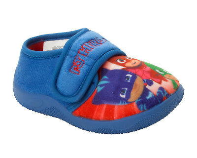 Pj Masks Slippers Easy Touch Fastening Toddlers Booties Boys Character Mules