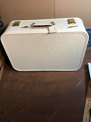 VINTAGE LADY BALTIMORE Weekend Suitcase Luggage with Key & Purple Interior