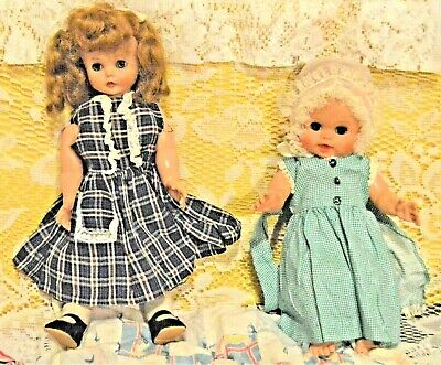 Lot of Two Unbranded Baby Dolls with Accessories 15 and 13 inches tall