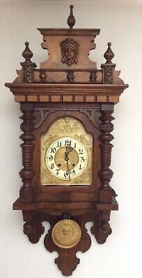 Antique Gustav Becker Large Wall Clock