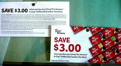 6x tim hortons k-cups (2x12 Pods) 3$ Off Coupons