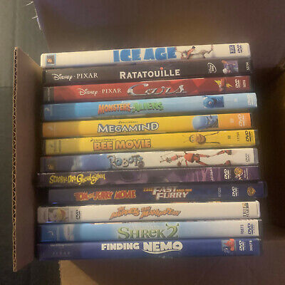 Children's DVDs Lot Of 12 movies Kids Boys Girls Teens