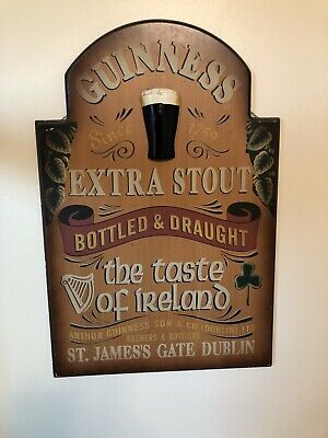 Guinness Beer Bar Sign 4 Pc Group Solid 3-D Mancave Barware Advertising
