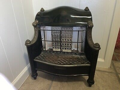 Antique The Humphrey Radiantfire Gas Fireplace Heater Porcelain Cast Iron Insert