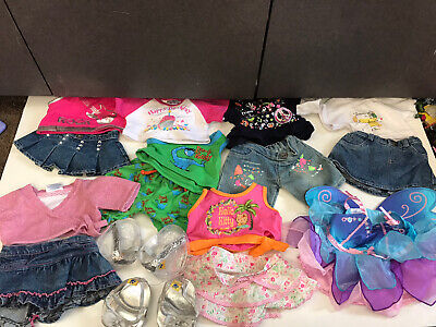 Huge lot Build A Bear Cloths Happy Birthday Hello Kitty Fairy Dress Shoes outfit