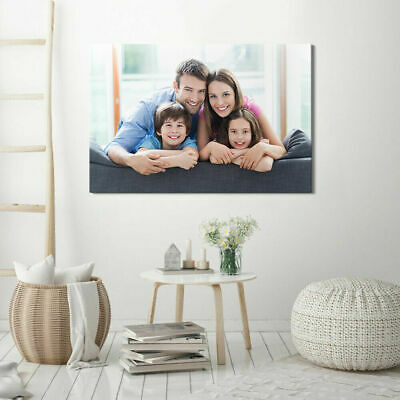 Personalised Photo on Canvas Print Framed ''10x8'' Inches Ready to Hang