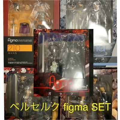 figma Berserk Figure set Guts Griffith Casca lot of 5 Anime Rare used from JAPAN