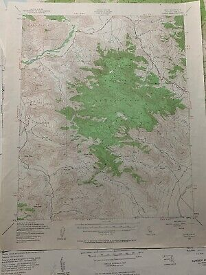1943 Onyx California Sequoia National Forest Sierra Mountains Topographic