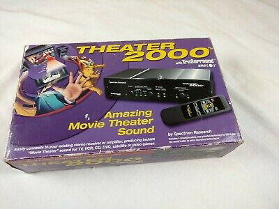 Spectrum Research SRS sound processer Home Theater System truSurround stereo