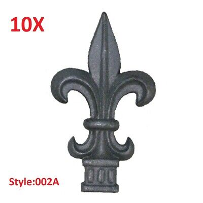 """10x CAST IRON FENCE FINIALS - Style 002A - Various Fitments 1/2"""" 5/8"""" 3/4"""""""