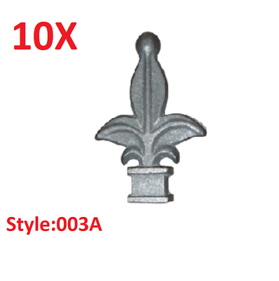 """10x CAST IRON FENCE FINIALS - Style 003A - Various Fitments 1/2"""" 5/8"""" 3/4"""""""
