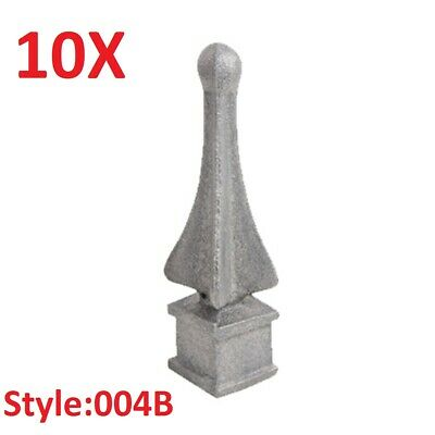 """10x CAST IRON FENCE FINIALS - Style 004B - Various Fitments 1/2"""" 5/8"""" 3/4"""""""