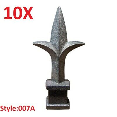 """10x CAST IRON FENCE FINIALS - Style 007A - Various Fitments 1/2"""" 5/8"""" 3/4"""""""