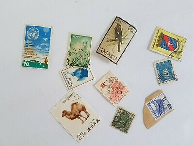 Mixed World Stamp Posted Postmarked Lot #5
