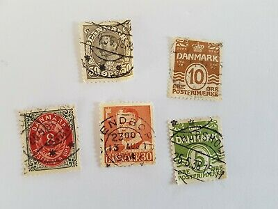 Danmark Stamp Posted Postmarked Lot 10 30 5 50 8
