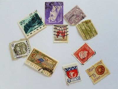 Mixed World Stamp Posted Postmarked Lot #8