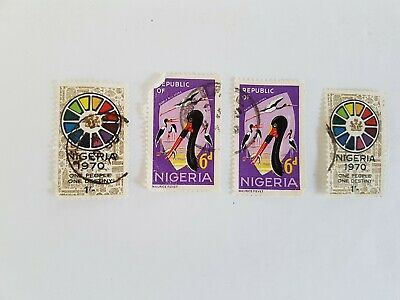 Nigeria Stamp Posted Postmarked Lot 1970 6d 1
