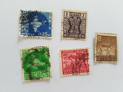 India Stamp Posted Postmarked Lot 1 25 5 UP