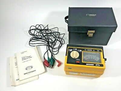 Biddle Megger Hand Crank Insulation Tester 212159 Mega Ohm Resistance w/ Manuals