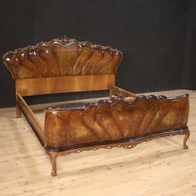 Double Bed Furniture Wooden Briar Antique Style Bedroom Vintage 900
