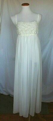 In Bloom Jonquil Womens Wedding Nightgown Gown Medium White Sheer Lace T17