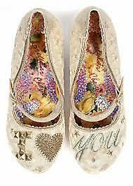 IRREGULAR CHOICE I Love You Wedding Shoes sz 40 Free UK