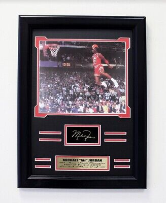 Michael Jordan Framed 8x10 1988 Slam Dunk Contest Engraved Signature Collage