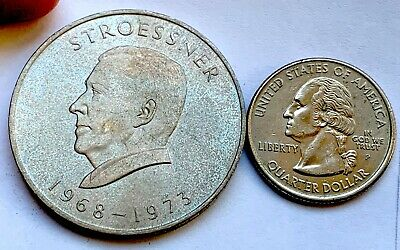 Paraguay Silver 300 Guaranies Stroessner 1973