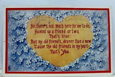 Greetings Friend's in My Heart That's You Postcard Old Vintage Card View Post PC