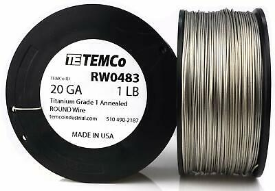 5 feet Grade 1 Surgical Pure Titanium wire 20 g 0.8 mm. US Manufacturer & Seller