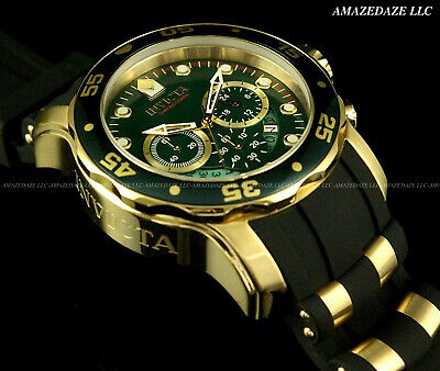 NEW Invicta Mens Scuba Pro Diver Stainless Steel GREEN DIAL Chronograph Watch !!